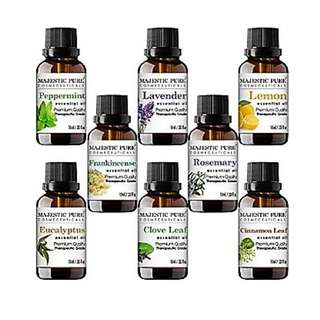 Aromatherapy Essential Premium Oils Set Includes Lavender Frankincense Peppermint Eucalyptus Lemon Clove Leaf Cinnamon Leaf & Rosemary Oils, 10 ml each