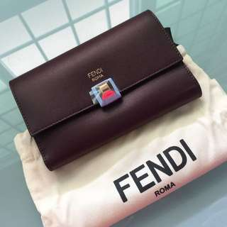 Brand New Fendi Kan I Medium Wallet