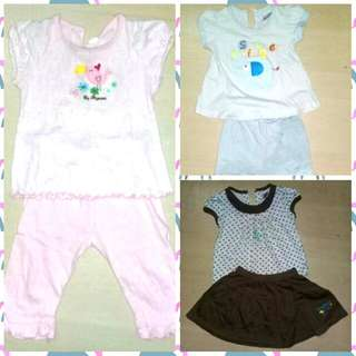 Girl's set (RM10 for all)