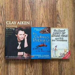 Books: Clay Aiken, Mark Haddon & Sue Townsend