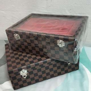 Amulet Box LV Damier Design  (Comes with See Through Glass  or Closed Up)