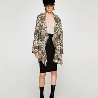 Zara coat with fringing
