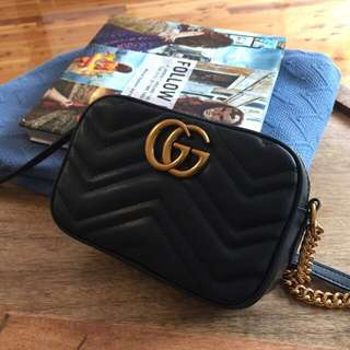 Gucci Marmont crossbody...100% Lambskin leather