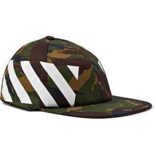 [預訂]OFF-WHITE Camouflage-Print Stretch-Cotton Canvas Cap