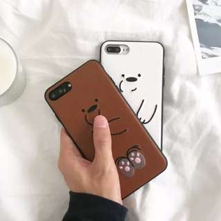 We bare bear Iphone case ( pre order)