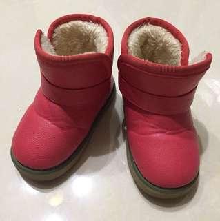 🚚 女童西瓜紅雪靴