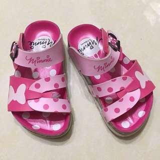 🚚 迪士尼Minnie 女童拖鞋