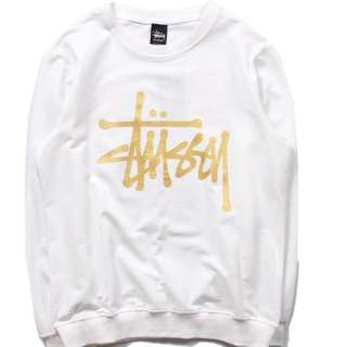 Stussy 燙金hoodies