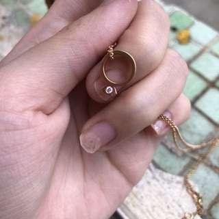 周生生玫瑰金戒指頸鏈