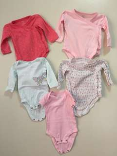 Onsies TAKE ALL. Fits until 6 months old. In really good condition!