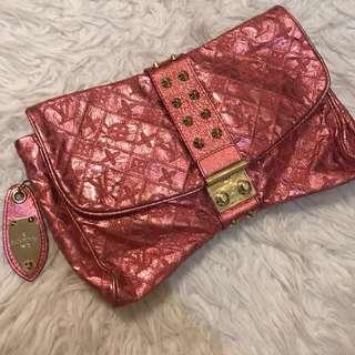 LV vintage metalic clutch / pouch