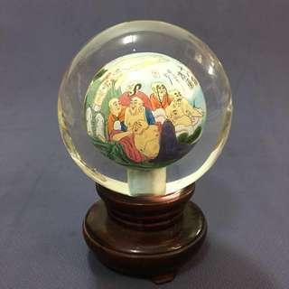 十八羅漢圖水晶球