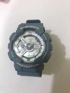 G-Shock手錶牛仔布藍淺藍