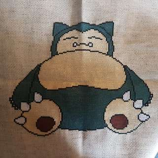 Cross stitch snorlax