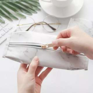 [brand new] marble pencil case