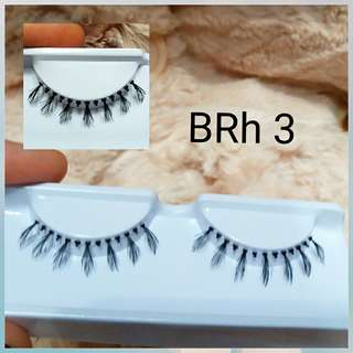 6 pasang BRIGHT  Human Hair Eyelash(6pairs)