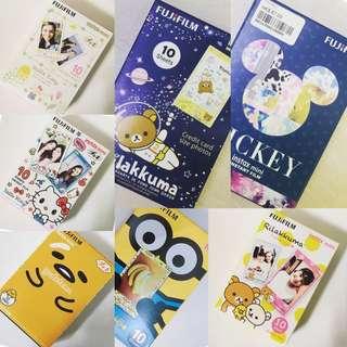 Fujifilm 即影即有相紙 蛋黃哥/Kitty/Mickey/鬆弛熊/Minion