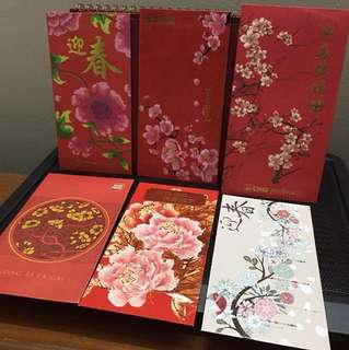 (6pcs) flower Ang Pow Packets