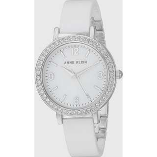 Brand New Anne Klein Women's Quartz Metal and Ceramic Dress Watch (White)