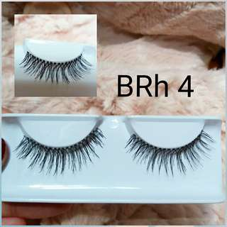 6 pasang BRIGHT Human Hair Eyelash (6pairs)