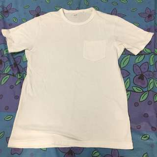 H&M Plain White Shirt with side pocket