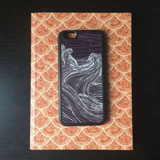 Black iphone6 case with artistic design