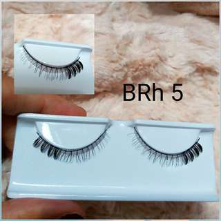 6 psg BRIGHT Human Hair Eyelash(6 pairs)