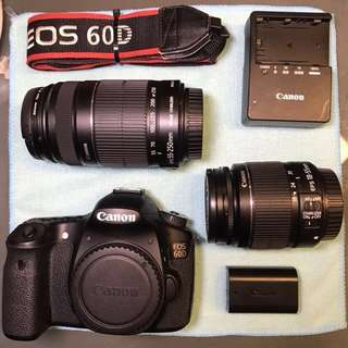 [ SOLD ] Canon EOS 60D + 18-55mm IS II + 55-250mm IS II in excellent condition. CHEAP!!!