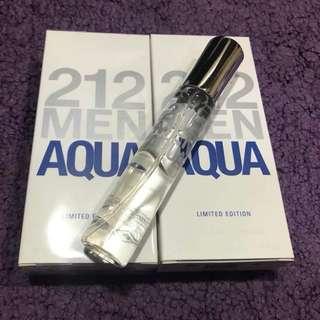 Reprice 🏅🏅🏅From 250  now on 200 only Carolina Herrera 212 men aqua white 20ml