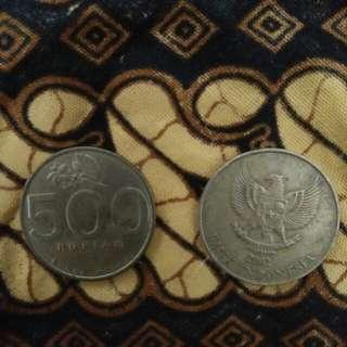 Rp 500 melati th 2002