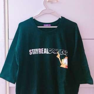 全新半價放 台北購Stayreal全新連身裙 黑色 五月天 加菲貓