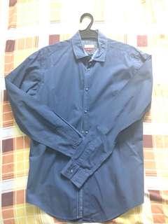 Zara Dark Blue Long Sleeves