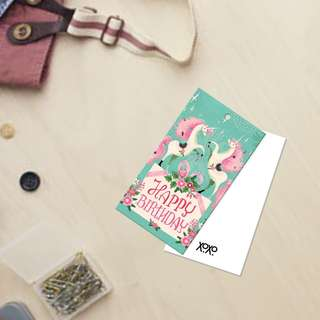 Pretty Cute Unicorn Birthday Card Tag