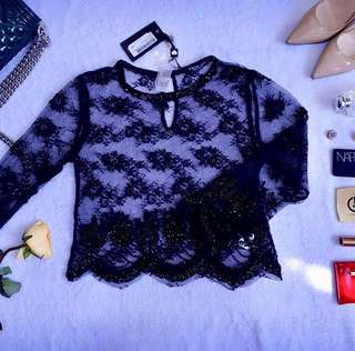Embellished Laced top