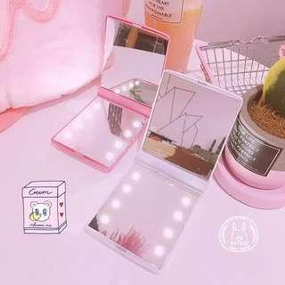 LED Mini Hand Carry Mirror (PO)