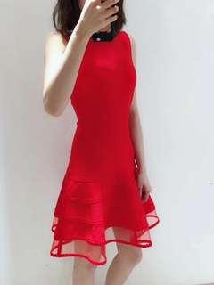 McQ 紅色連衣裙