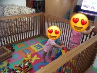 Kids playard 4 panels (152cm x 71cm each panel)