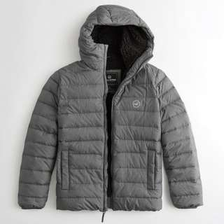 HOLLISTER SHERPA-LINED DOWN PUFFER JACKET