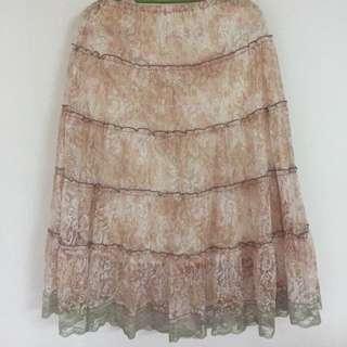 碎花紗裙(橡筋腰)