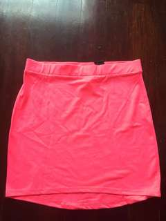 Neon skirt by divided (H& M)