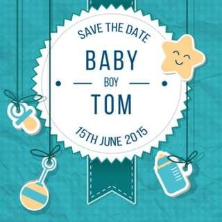 Baby KIds Children Party Graphic & Label
