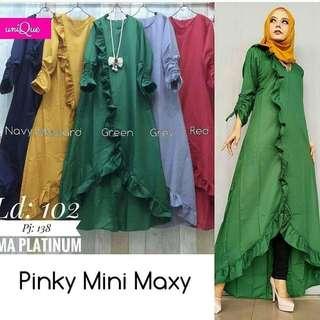IKN - 0218 - Dress Busana Muslim Wanita Pinky Mini Maxy