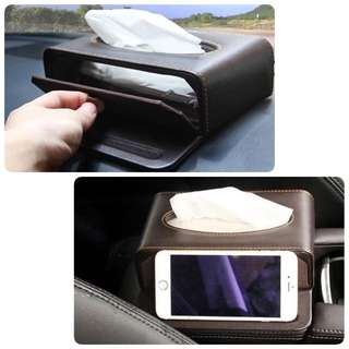 Car Tissue Box cum phone stand -Good Quality