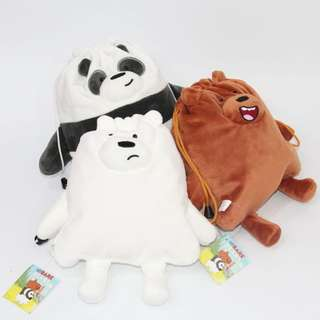 We bare bears drawstring pouch