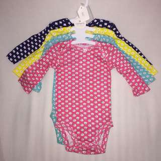 "Carter's 4 pc bodysuit ""Elephant"""
