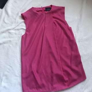 Plains and print blouse