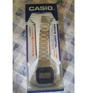 Jam Tangan Casio (A158WA-1JF) Silver (Unisex)