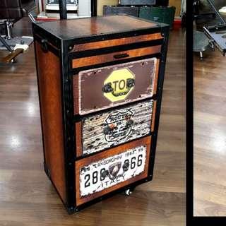 Barber & Co. Vintage Trolley Mobile Tool Case