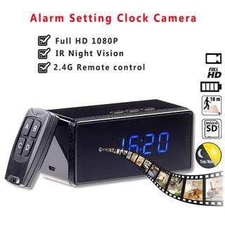 Remote Control Mini Camera Full HD 1080P Clock Camera Alarm Setting IR Night Vision Table Clock Camera Motion Detection