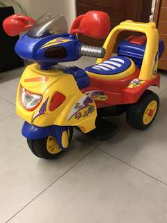 Three Wheel Motorbike for kids with charger